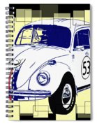 Herbie The Love Bug Spiral Notebook
