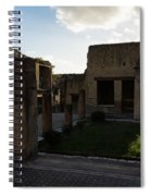 Herculaneum Ruins - Mosaic Tile Streets And Sun Splashes Spiral Notebook