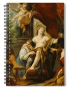 Hercules And Omphale Spiral Notebook