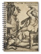 Hercules Killing Cacus At His Cave Spiral Notebook