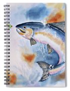 Here Fishy, Fishy Spiral Notebook