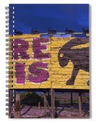 Here It Is Jack Rabbit Sign Spiral Notebook