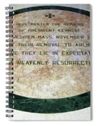 Here Rested The Remains Of President Kennedy Spiral Notebook