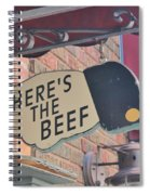 Heres The Beef Spiral Notebook