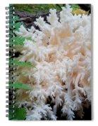 Mushroom Hericium Coralloid Spiral Notebook