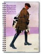 Hermann Scherrer Sporting Tailor - Munich, Germany - Vintage Advertising Poster Spiral Notebook