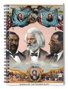 Heroes Of The Colored Race  Spiral Notebook