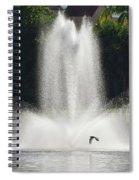 Heron Across A Fountain Spiral Notebook