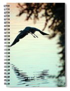 Heron At Dusk Spiral Notebook