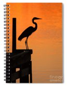 Heron At Sunset Spiral Notebook