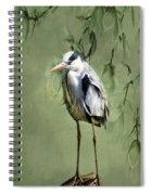 Heron Egret Bird Spiral Notebook