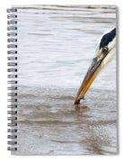Heron Fishing Spiral Notebook