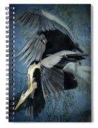 Heron Love  Spiral Notebook