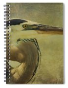 Heron On Texture Spiral Notebook