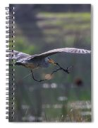 Heron With Nesting Material Spiral Notebook