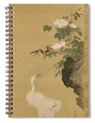 Herons And Cotton Roses Spiral Notebook