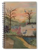 Heron's Hangout At Sunrise Spiral Notebook