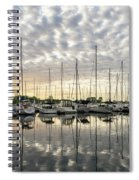 Herringbone Sky Patterns With Yachts And Boats  Spiral Notebook