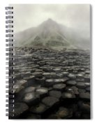 Hexagon Stones And A Mountain In The Morning Fog Spiral Notebook
