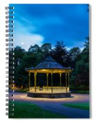Hexham Bandstand At Night Spiral Notebook