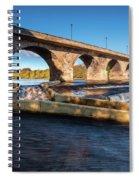 Hexham Bridge And Fish Pass Spiral Notebook
