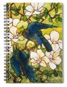 Hibiscus And Parrots Spiral Notebook
