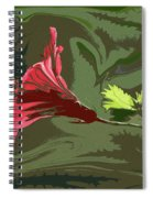 Hibiscus Dark And Light Photopainting 1 Spiral Notebook
