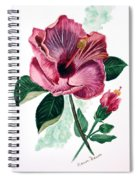 Hibiscus Dusky Rose Spiral Notebook
