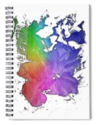 Hibiscus S D Z 2 Cool Rainbow 3 Dimensional Spiral Notebook