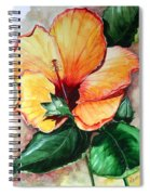 Hibiscus  Sunny Spiral Notebook