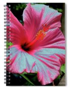 Hibiscus With A Solarize Effect Spiral Notebook
