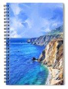 Hidden Beach At Big Sur Spiral Notebook