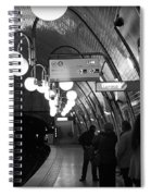 Paris Tube Station Cite - Hidden Kiss Spiral Notebook