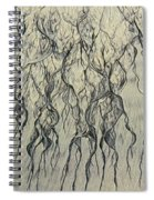 High Angle View Of Waves Create Spiral Notebook