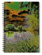 High Contrast River Sunset Spiral Notebook