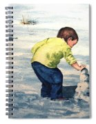 High Country Snow Girl Spiral Notebook