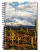 High Desert Snow Spiral Notebook