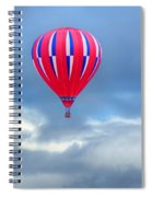 High In The Sky - Hot Air Balloon Spiral Notebook