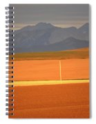 High Plains Of Alberta With Rocky Mountains In Distance Spiral Notebook