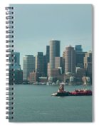 High Resolution Panoramic Of Downtown Boston During The Day Spiral Notebook