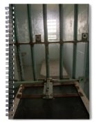 High Risk Solitary Confinement Cell In Prison Through Bars Spiral Notebook