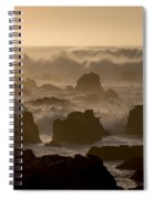 High Surf At Asilomar Beach Spiral Notebook