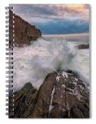 High Tide At Bald Head Cliff Spiral Notebook