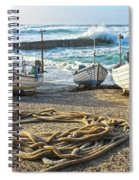High Tide In Sennen Cove Cornwall Spiral Notebook