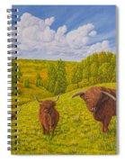 Highland Cattle Pasture Spiral Notebook