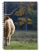 Highland Cow In France Spiral Notebook