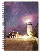 Highland Light Truro Massachusetts Cape Cod Starry Sky Shadow Yard Spiral Notebook