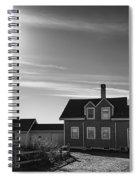Highland Lighthouse Bw Spiral Notebook