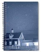 Highland Lighthouse Truro Ma Cape Cod Monochrome Blue Nights Spiral Notebook