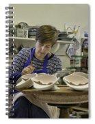 Highland Stoneware Artist At Work Spiral Notebook